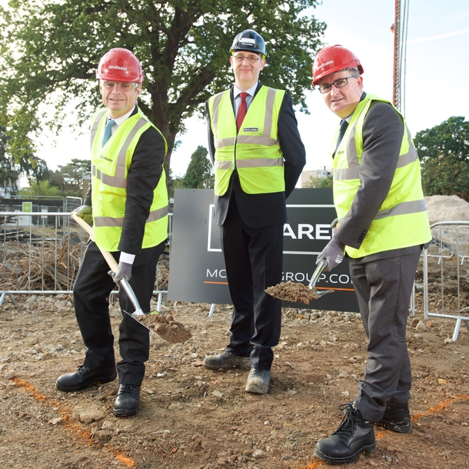 McLaren celebrate Ground Breaking on new sustainable Cambium scheme